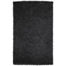 Vivid Black Area Rug