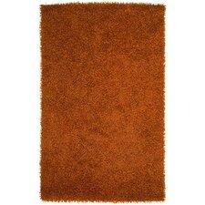 Vivid Burnt Orange Area Rug
