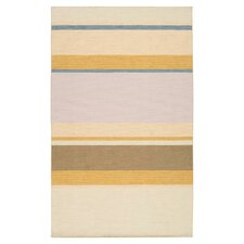 Calvin Old Gold/Barley Striped Area Rug
