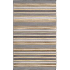 Calvin Pewter/Mustard Striped Area Rug