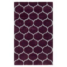 Mamba Raspberry Wine & Pigeon Gray Area Rug