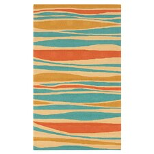 Rain Mustard/Malachite Blue Indoor/Outdoor Rug