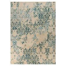 Banshee Parchment/Blue Area Rug