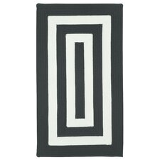 Willoughby Black/White Striped Outdoor Area Rug