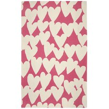 Valentine Pink/Ivory Area Rug