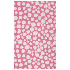 Heavenly Pink/White Area Rug
