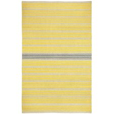 Barred Yellow Smoke Striped Area Rug