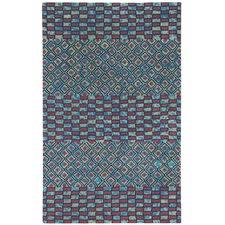 Charisma Red/Blue Mosaic Area Rug