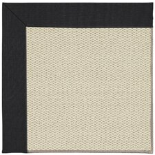 Inspirit Linen Machine Tufted Ebony/Brown Area Rug