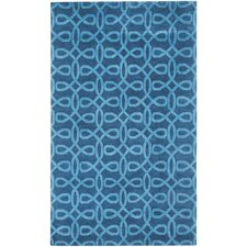 Cococozy Symphonic Hand Knotted Midnight Blue Area Rug