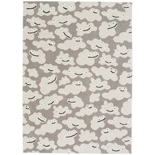 Hable Construction Sky Puffy Machine Woven Silver Area Rug