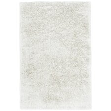 Trolley Line Vanilla White Area Rug
