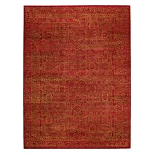 Tonal Trace Red Area Rug
