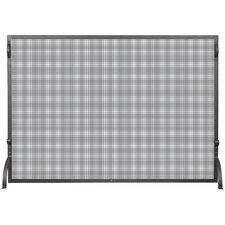 1 Panel Wrought Iron Spargkguard Fireplace Screen
