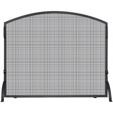 1 Panel Wrought Iron Arch Top Fireplace Screen