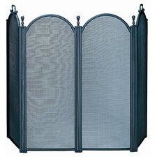 4 Panel Woven Mesh Fireplace Screen
