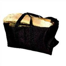 Black Canvas Log Carrier