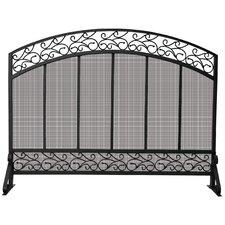 1 Panel Wrought Iron Fireplace Screen