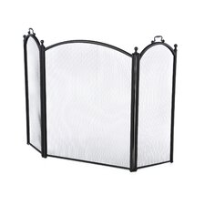 3 Panel Woven Mesh Fireplace Screen