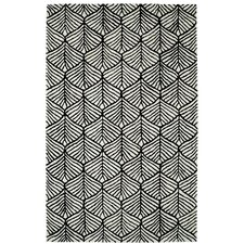 Palace Black & White Geometric Area Rug