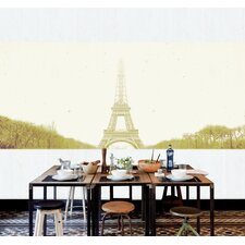 "Journeys Mural Paris 9' x 127"" Scenic Wallpaper"