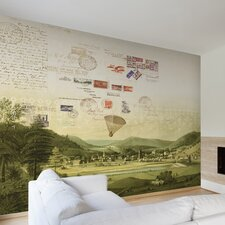 """Journeys Mural Stamps 9' x 127"""" Scenic Wallpaper"""