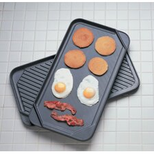 """20"""" Reversible Grill Pan and Griddle"""
