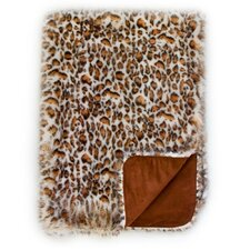 Eyelash Leopard Reversible Throw