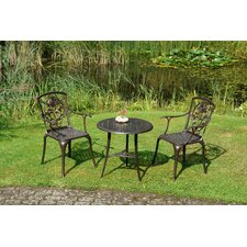 3-tlg. Bistro-Set Rose