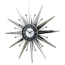 "Oversized 23.5"" Telechron Starburst Wall Clock"