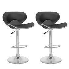 CorLiving Adjustable Height Swivel Bar Stool with Cushion (Set of 2)