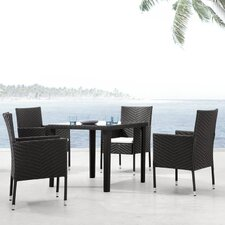 Wentworth Outdoor Square Dining Table in Dark Brown