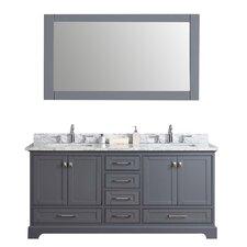 "72"" Double Sink Bathroom Vanity Set with Mirror"