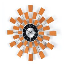 Telechron Wooden Block Wall Clock