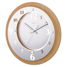 Telechron Ivory Solid Wood Modern Wall Clock
