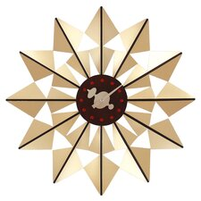 """Telechron Butterfly 20"""" Wall Clock in Gold"""