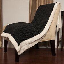 Mermaid Reversible Ultra Soft Faux Lamb's Wool Throw Blanket