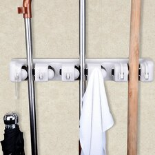 Space-Saving Mop and Broom Hanging Organizer