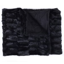 Box Decorative Reversible Faux Fur and Mink Throw