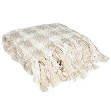 Elegant Check Pattern Knit Throw Blanket