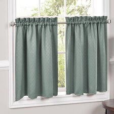 Facets Blackout Insulated Curtain Tier (Set of 2)