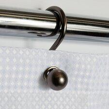 Rust Resistant Tone Metal Ball Shower Hook (Set of 12)