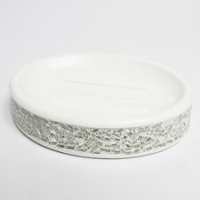 Luster Cracked Glass Bath Sink Soap Dish