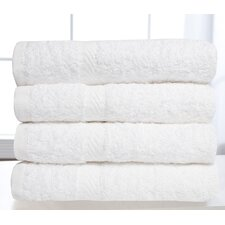 100% Cotton 600 GSM White Hotel Terry Cloth Hand Towel (Set of 4)