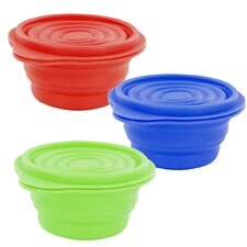 6-Piece Collapsible Silicone Container Set (Set of 3)