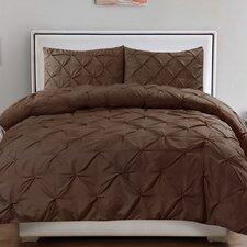 Luxurious Pinch Pleat 3 Piece Comforter Set