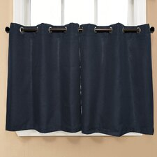 Jackson Textured Solid Kitchen Tier Curtain (Set of 2)