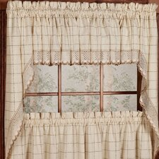 "Adirondack 30"" Cotton Kitchen Window Swag Curtain Valance (Set of 2)"