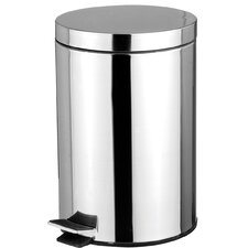 1.32-Gal. Stainless Steel Waste Bin with Hands Free Lid
