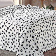 Super Soft Microplush Dalmation Paw Print Throw Blanket